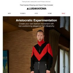 [LUISAVIAROMA] Join in Givenchy's menswear madness