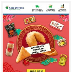 [Cold Storage] 🎉 Huat ah! Tasty, crunchy treasures for everyone! 🎉