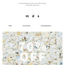 [MDS] Our Top Picks | 70% Off 3 days only!