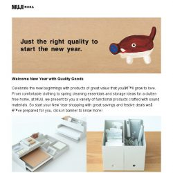 [Muji] MUJI | Welcome New Year with Quality Goods