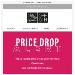 [Saks OFF 5th] PRICE DROP alert: styles from Cole Haan