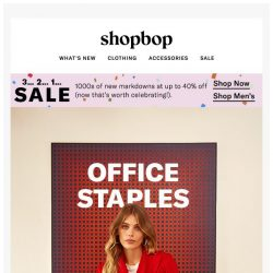 [Shopbop] Workwear that works overtime