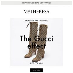 [mytheresa] Exclusive pre-shopping: Gucci
