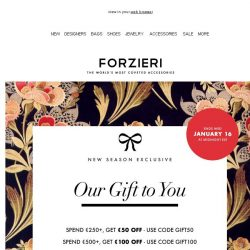 [Forzieri] Our €500 gift to you