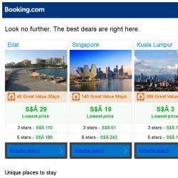 [Booking.com] Eilat, Singapore, or Kuala Lumpur? Get great deals, wherever you want to go