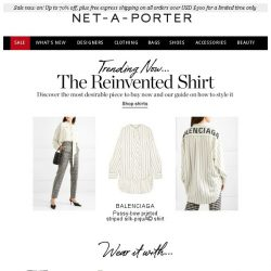 [NET-A-PORTER] Shirts that make the cut