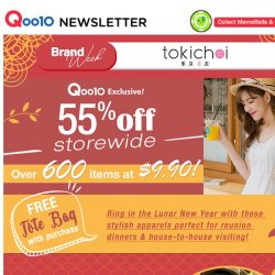[Qoo10] TOKICHOI 55% OFF STOREWIDE | It's time to hunt for your CNY outfits!