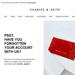 [Charles & Keith] It's Been A While – Here's An Offer For You 🎁