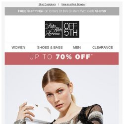 [Saks OFF 5th] Designers only: Up to 70% off Jimmy Choo, Prada & more!