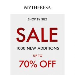 [mytheresa] 1000 new pieces on sale: shop by clothing size