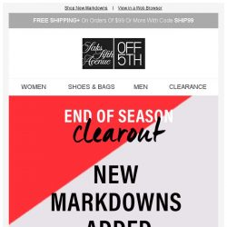 [Saks OFF 5th] Up to 80% off just-added clearance-yes, please!
