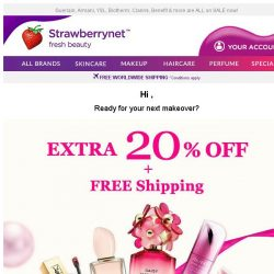 [StrawberryNet] , Extra 20% Off + Free Worldwide Shipping is just 1 Click away!
