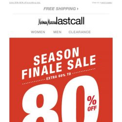 [Last Call] Season Finale Sale: extra 60%–80% off clearance