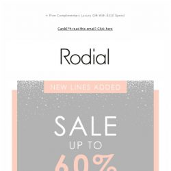 [RODIAL] New Lines Added | Sale Just Got Even Better