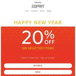 [Esprit] New year, new outfits! CNY Special!
