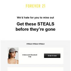 [FOREVER 21] New low price on an item you liked