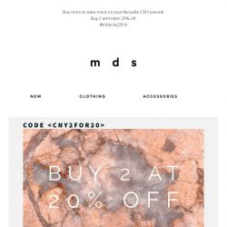 [MDS] Celebrate CNY with MDS | Buy 2 at 20% off
