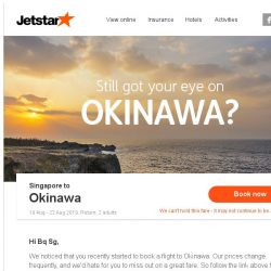 [Jetstar] Still want to go to Okinawa?