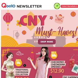 [Qoo10] Nail your CNY OOTD with these pieces!