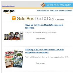 [Amazon] Save up to 30% on MuscleTech protein favorites
