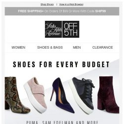 [Saks OFF 5th] How low can you go: Shoes at every pricepoint