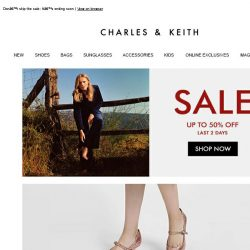 [Charles & Keith] End Of Season Sale: Final 2 Days