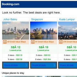 [Booking.com] Johor Bahru, Singapore, or Kuala Lumpur? Get great deals, wherever you want to go