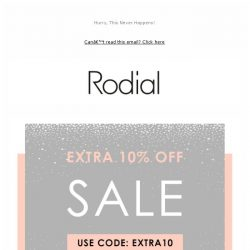 [RODIAL] Sale On Sale - Extra 10% Off