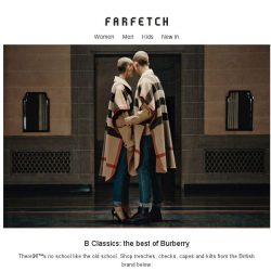 [Farfetch] Pieces to pass down. Shop Burberry