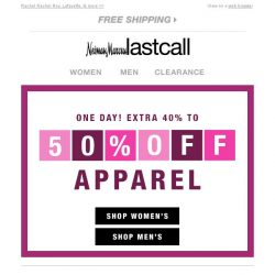 [Last Call] Your style   your brands   extra 40%–50% off
