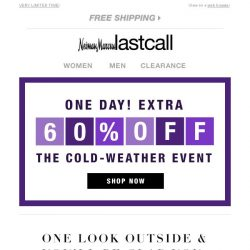 [Last Call] Everything WARM @ 60% off