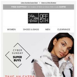[Saks OFF 5th] Fur you: Take an extra 60% off fur & coats!
