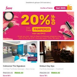[Fave] Get your very first beauty fix with us, 20% OFF!