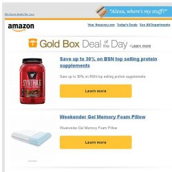 [Amazon] Save up to 30% on BSN top selling protein...