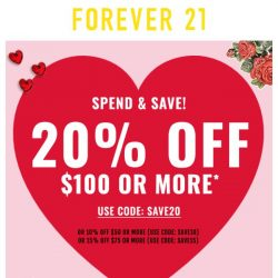 [FOREVER 21] Want 20% off, babe?