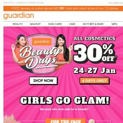 [Guardian] 👄 The biggest sale for Beauty Days Cosmetics is here!