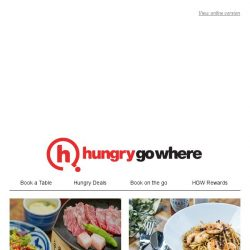 [HungryGoWhere] 50% off second dish, $20 off with minimum spending of $40, & more - Exclusive deals from HungryGoWhere