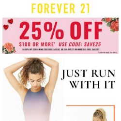 [FOREVER 21] Got that tax return? 😎 Spend it with 25% off!
