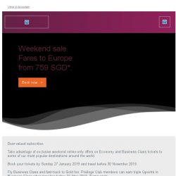 [Qatar] Weekend sale. Fares to Europe from 759 SGD.