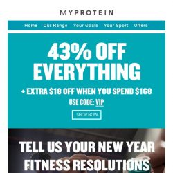 [MyProtein]  - your VIP exclusive offer.