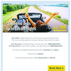 [cheaptickets.sg] ⏳ SG Weekend Deals   Up to $35 Off Flights!