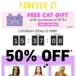 [FOREVER 21] Not your usual Cat-urday morning... 😸