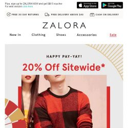 [Zalora] Closet not sparking joy? 20% OFF sitewide to start over!