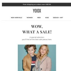 [Yoox] Kids: the best of the sale with up to an EXTRA 70% OFF