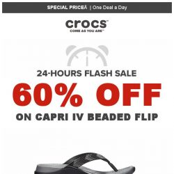 [Crocs Singapore] 【1 DEAL a DAY 】 Capri Flip 60% off! Today Only!