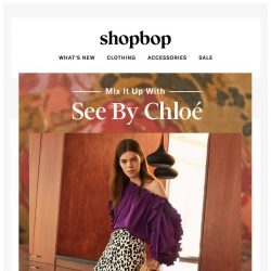 [Shopbop] Cheetah spots! Puff sleeves! The latest from See by Chloe