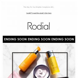 [RODIAL] Ending Soon: 20% Off Cleansers