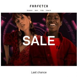 [Farfetch] Final call for final clearance + newness added