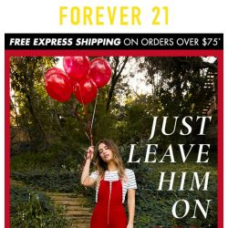 [FOREVER 21] JUST LEAVE HIM ON RED