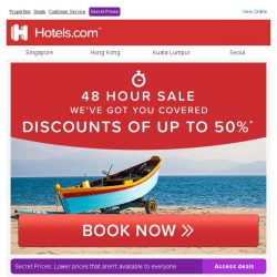 [Hotels.com] You have access to up to 50% OFF 【2 DAYS ONLY】